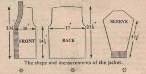 A Thick Jacket 1959 measurements