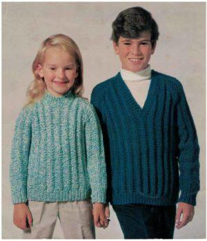 Sirdar 794 Sweater for Boy or Girl