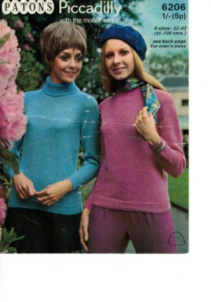 Patons 6206 - Piccadilly with the mohair look
