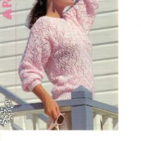 Patons 8281 - Lace pattern sweater