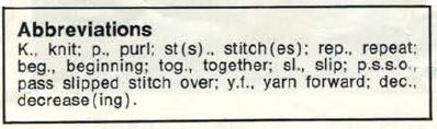 Robin Bambino 2537 - Angel Top - abbreviations