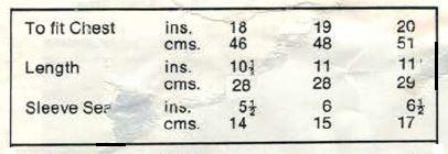 Robin Bambino 2537 - Angel Top - measurements