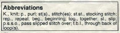 Robin 2845 - Polo Neck Jumper - abbreviations