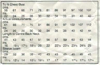 Robin 2845 - Polo Neck Jumper - measurements