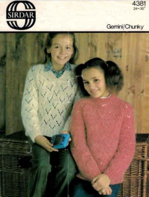 Sirdar 4381 - V & Round Neck Sweaters