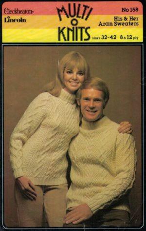Cleckheaton 158 His & Hers Aran Sweaters