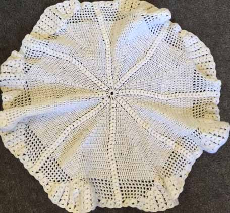 Square And Circular Babys Shawl Vintage Knitters