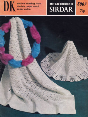 Sirdar 3007 - Square and Circular Baby Shawls