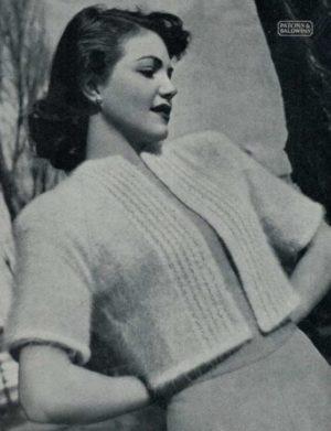 Patons 280 - Lady's Bolero Jacket - Chinchilla