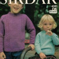 Sirdar 4081 - Girls & Boys Cable Jumper