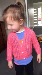 Patons Fairytale 1652 - Toddlers Patterned V Neck Cardigan