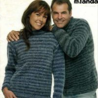 Panda 109 - Lady's & Man's Classic Jumper with Round Neck and Raglan sleeves