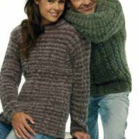 Panda 109 - Lady's & Man's Cable Jumper with Raglan sleeves