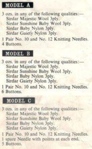 Sirdar 267 - Baby's Cardigan - 3 ply