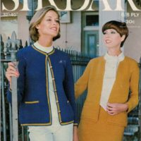Sirdar 7071 - Lady's Crochet Blazer and Chanel Suit