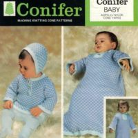 Baby's Sleeping Bag or Dressing Gown, Bonnet and Jumper - C Pattern Image