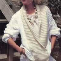 Double breasted ribbed cardigan