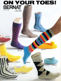 Funky socks from Bernat Book 218