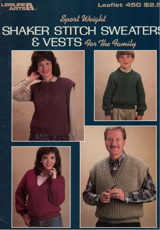 Leisure Arts 450 - Shaker Stitch Sweaters and Vests image
