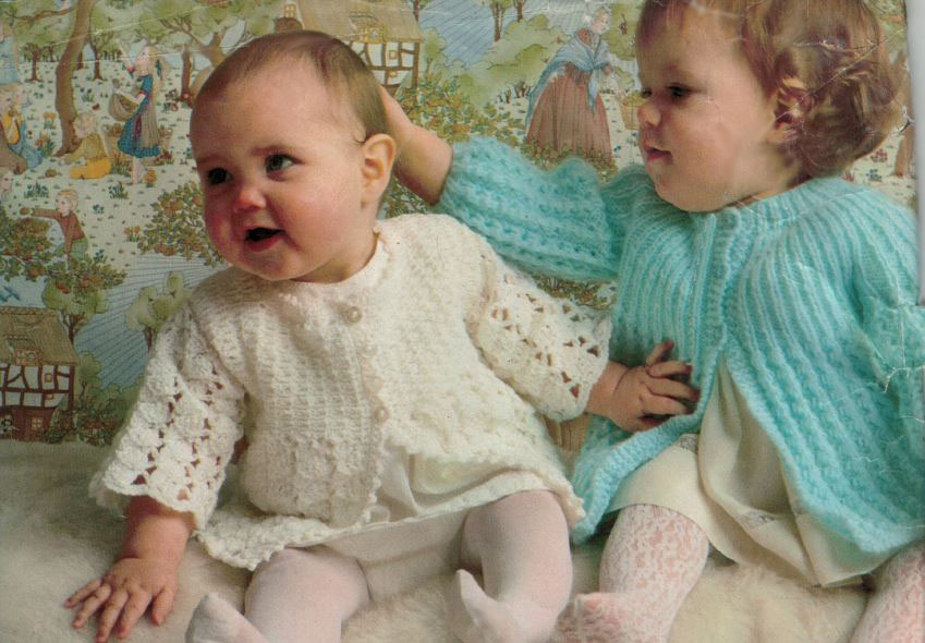 Sirdar 108 Babys Crochet Jacket and Matinee Jacket image