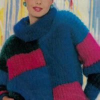 Block coloured sweater from Woman's Day Collector Series 1985