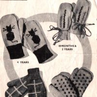 Childrens Mitts - Bestway 1252 - cover image