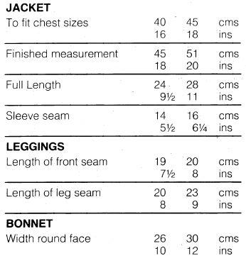 Sirdar108-13 14 Pram Set measurements
