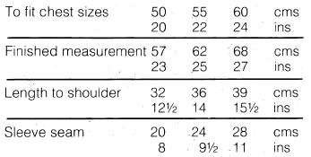 Sirdar108-30 Track Top measurements