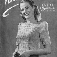 A Duchess Model Patterns No 2003 Debut & 2004 - Lady's Cardigan Colette