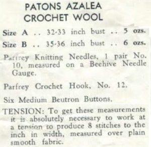 Patons 398 - Lady's Vest Yvonne - Materials