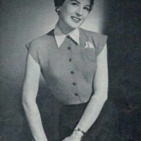 Patons 398 - Lady's Vest Yvonne