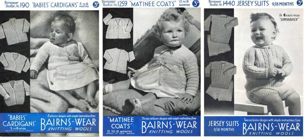 Bairns-wear Knitting Patterns, 190, 1259 and 1440